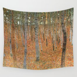 Gustav Klimt's Beech Forest Buchenwald I Wall Tapestry