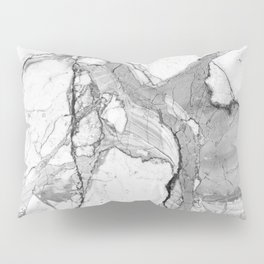 Grey Marble Pillow Sham