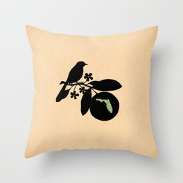 Florida - State Papercut Print Throw Pillow