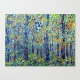 Impressionism Landscape Tree Forest, Rustic Art Home Decor Canvas Print