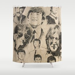 Tribute To JohnLennon Shower Curtain