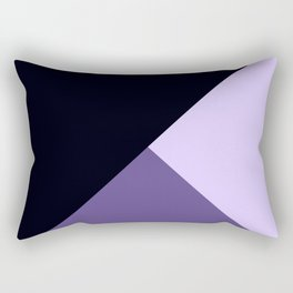 Trinity Color Block Ultra Violet Rectangular Pillow