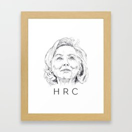 Hillary Clinton Framed Art Print