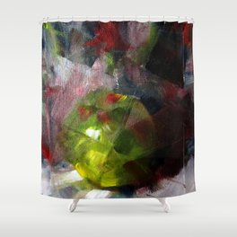Fractured Fruit Abstract Shower Curtain