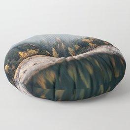 Misty Autumn Forest Floor Pillow