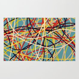 Colored Line Chaos #2 Rug