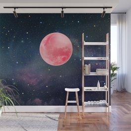 Pink Moon Wall Mural