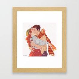 October Jily kisses Framed Art Print