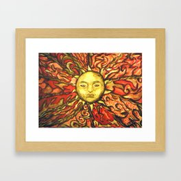 Sun of folklore by Fiona Glass W 2013 Framed Art Print