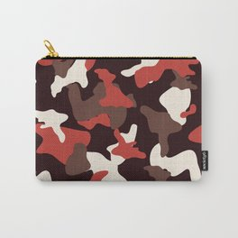 Red camo camouflage army pattern Carry-All Pouch