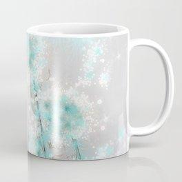 Dandelions in Turquoise Coffee Mug