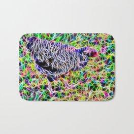 Abstract speckled hen Bath Mat