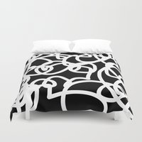 tangled Duvet Covers featuring TANGLED by SUNNASAVITA