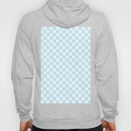 Small Checkered - White and Light Blue Hoody