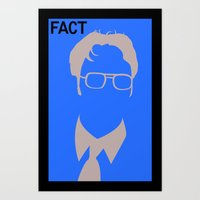 dwight schrute Art Prints featuring Dwight Schrute by Stacia Elizabeth