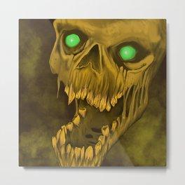 Green Eyes of Death Metal Print