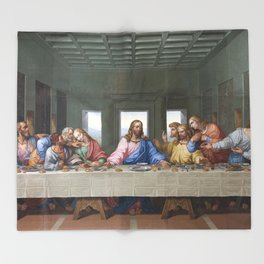 The Last Supper by Leonardo da Vinci Throw Blanket