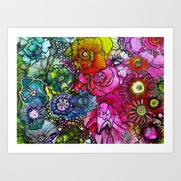 Abstract Floral 2 Art Print