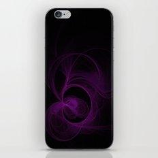 Purple Swirls on Black iPhone & iPod Skin