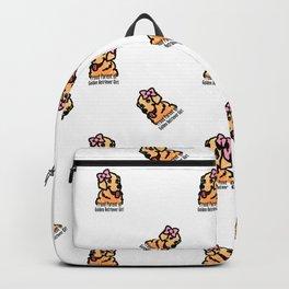 Proud Parent of Golden Retriever Girl - Pattern Version Backpack