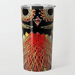 String Art Owl Travel Mug