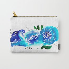 Three Blue Christchurch Roses Carry-All Pouch