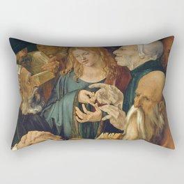 Albrecht Dürer - Jesus among the Doctors Rectangular Pillow