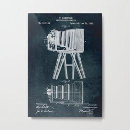 1885 Photographic camera patent art Metal Print