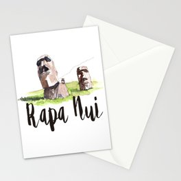 Rapa Nui watercolor Stationery Cards