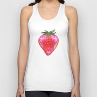 strawberry Tank Tops featuring Strawberry by Ornaart
