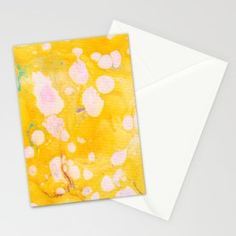 speckled marble | yellow Stationery Cards