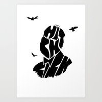 hitchcock Art Prints featuring Hitchcock by creativecam