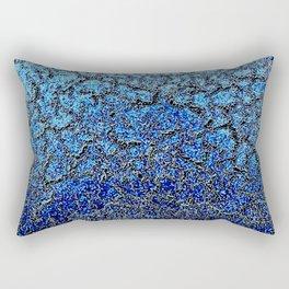 Blue Crackle Pattern Rectangular Pillow