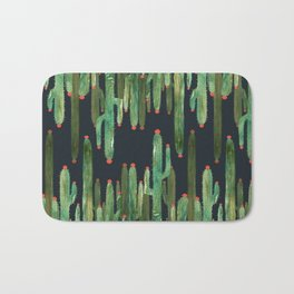 Cactus Mirror at Night Bath Mat