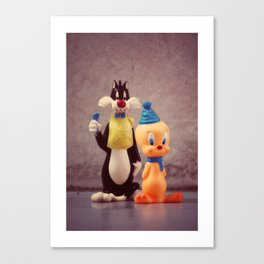 Silvester and Tweety Canvas Print