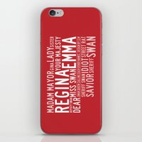swan queen iPhone & iPod Skins featuring Swan Queen Nicknames - Red (OUAT) by CLM Design