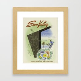 Vintage poster - Sun Valley, Idaho Framed Art Print