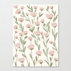 Rose Garden Pattern Canvas Print