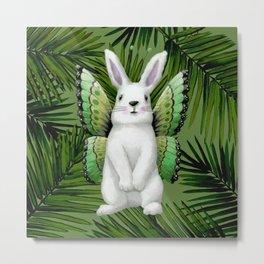Winged Bunny Metal Print