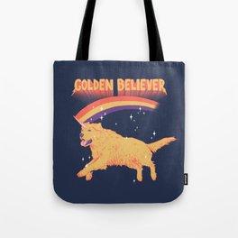 Golden Believer Tote Bag