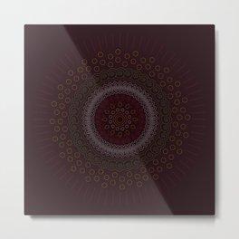 Abstract Zen Mandala Metal Print
