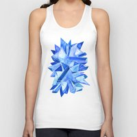 minerals Tank Tops featuring Sapphire Watercolor Facets by Cat Coquillette
