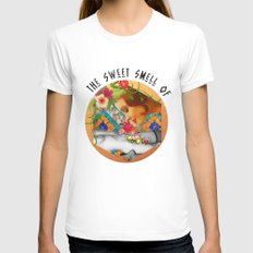The Sweet Smell Of White Womens Fitted Tee MEDIUM