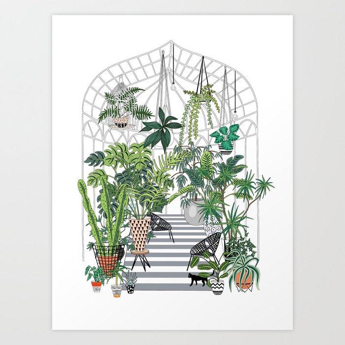 greenhouse illustration Kunstdrucke