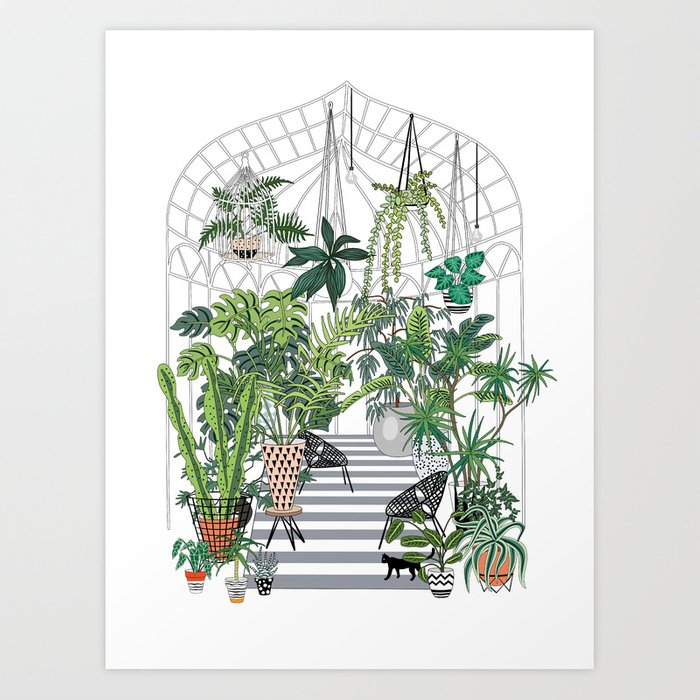 greenhouse illustration Kunstdrucke