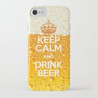 beer iPhone & iPod Cases featuring Beer by Text Guy