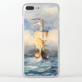 Tall ships Clear iPhone Case