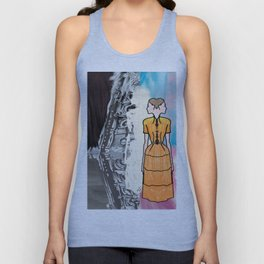 She Is Leaving The Painting Unisex Tank Top