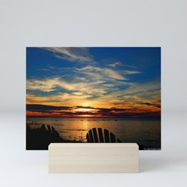 Peace and Relaxation at the Sea shore Mini Art Print