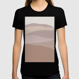 Muted Dusty Abstract Mountain Landscape T-shirt